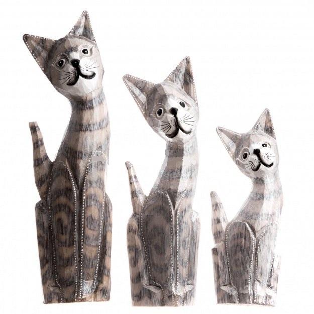 Набор фигурок Полосатые коты 20,25,30 см