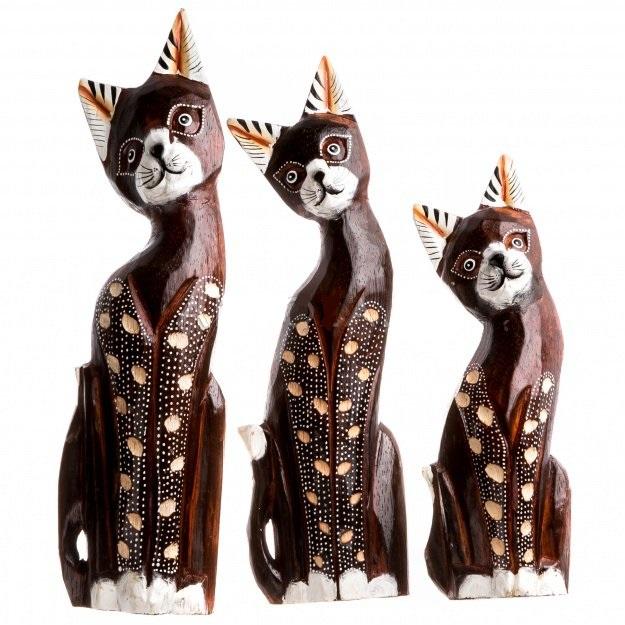 Набор статуэток кошек в пятнышко 25,30,35 см