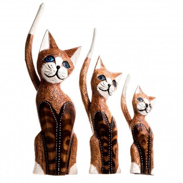 Набор кошек с длинным хвостом 25,30,35 см