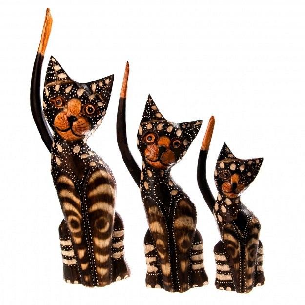 Набор сувениров котов 20,25,30 см