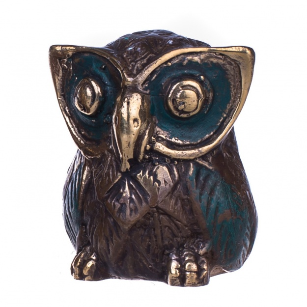 Статуэтка сова из бронзы 6,5x4x5,5 см