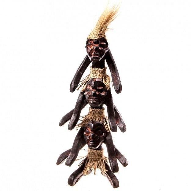 Фигурка из трех аборигенов Асмат 22 см