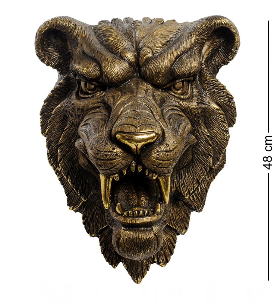 """Настенная фигура """"Рычащий Тигр"""" 48 см"""