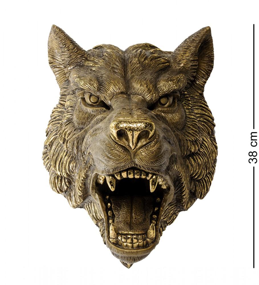 """Настенная фигура """"Грозный волк"""" 38 см"""