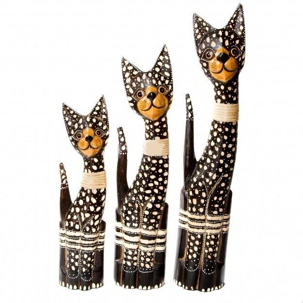 Набор пятнистых кошек 40,50,60 см