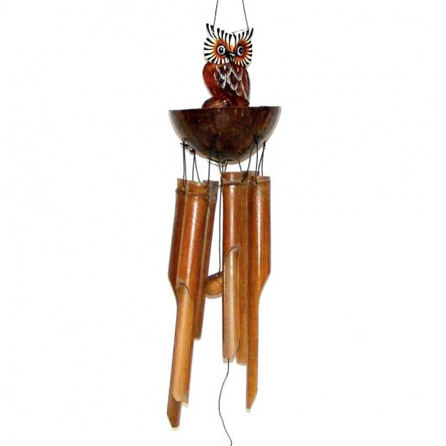 Музыка ветра Сова на половинке кокоса