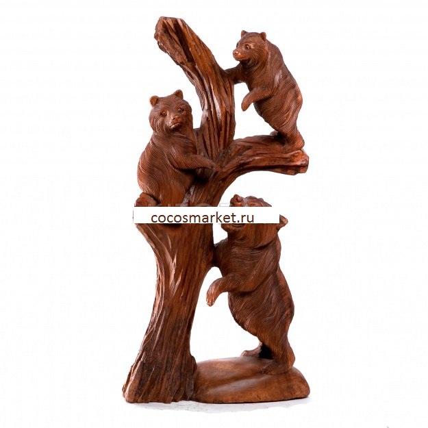Скульптура Медвежата 100 см