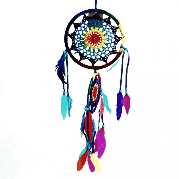 Ловушка снов разноцветный круг 16 см
