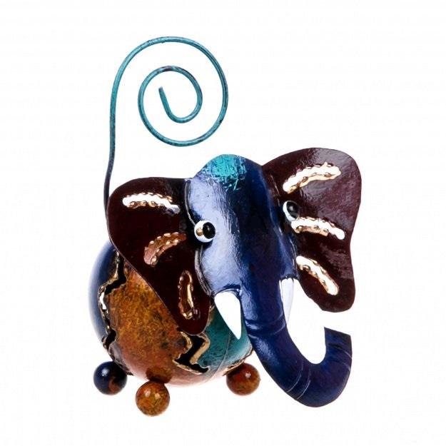 Фигурка из металла Цветной Слон 8 см
