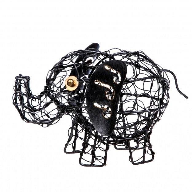 Фигурка из металла Слон 17 см