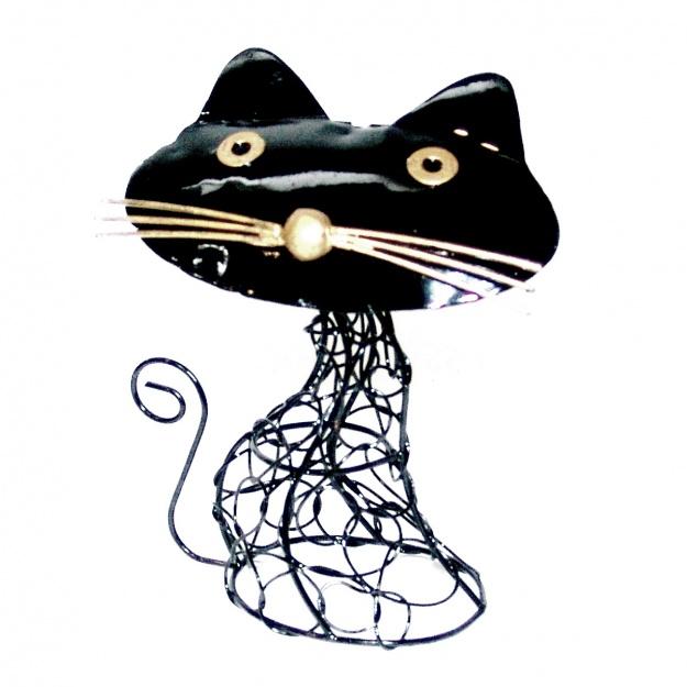 Фигурка из металла Кошка 16 см