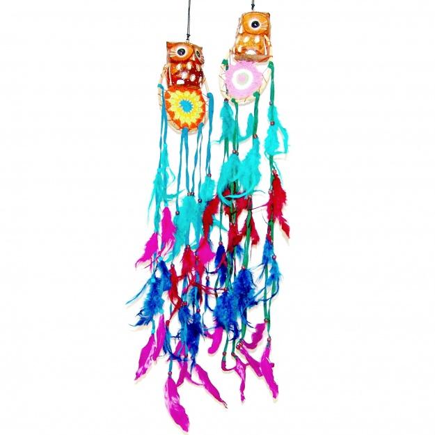 Цветной ловец снов и Сова 11 см