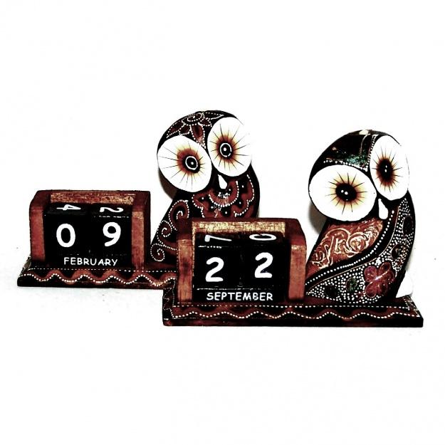 Сувенир настольный календарь Сова глазастая