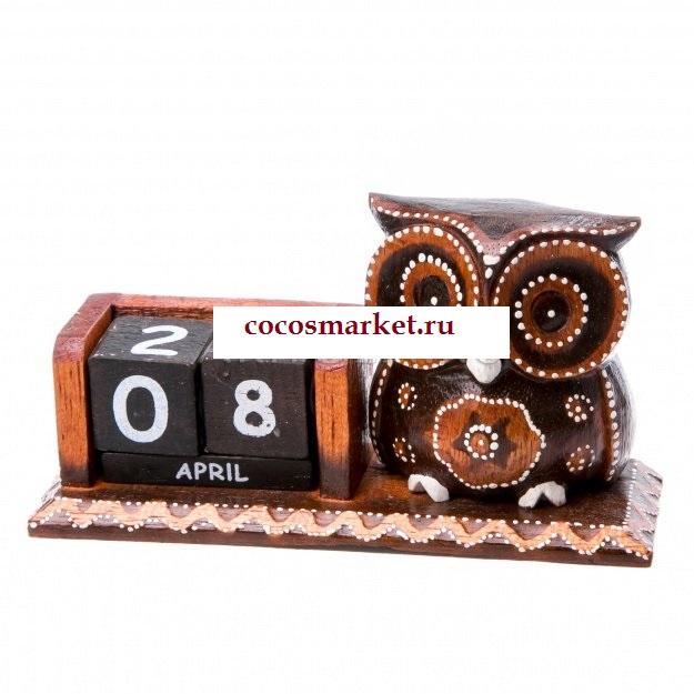 Сувенир настольный календарь Совушка
