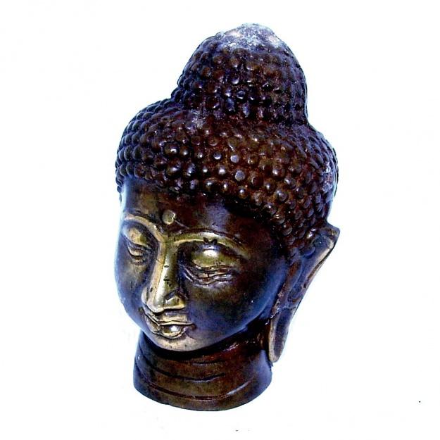 Фигурка из бронзы Голова Будды 8 см