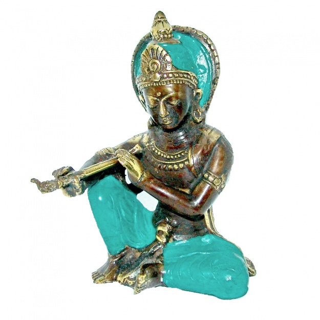 Статуэтка из бронзы Бог Кришна 14 см