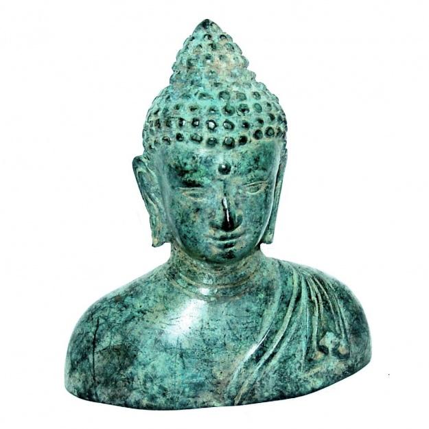 Статуэтка из бронзы Голова Будды 11 см
