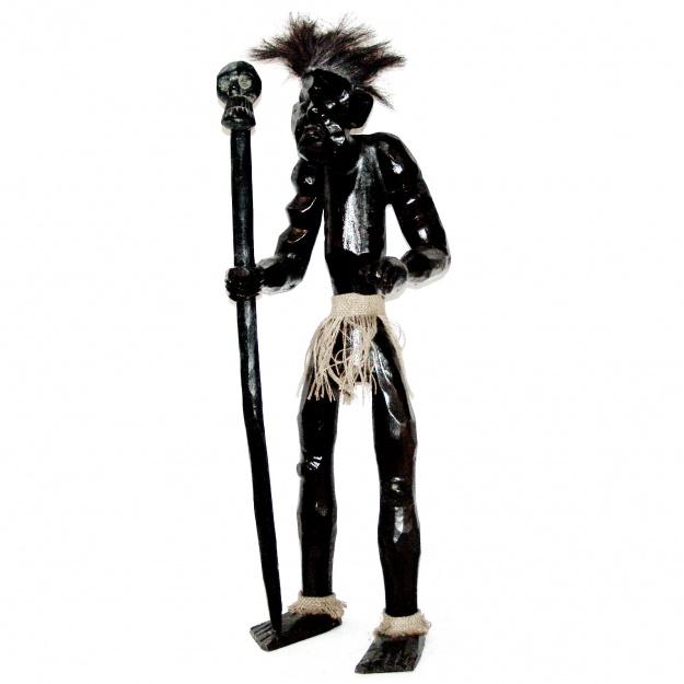 Фигурка из дерева Абориген: Асмат охотник 100см.