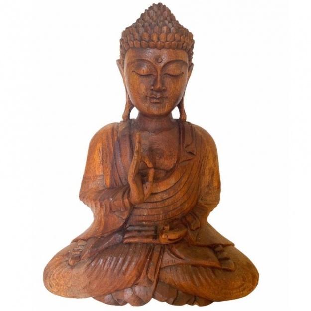 Фигура из дерева Будда 40 см