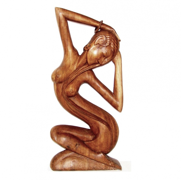 Фигура из дерева Дева 100 см