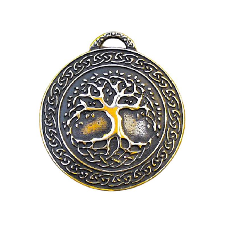 Кулон бронзовый Древо жизни 36х40мм