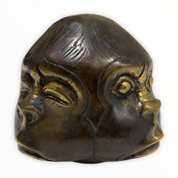 Четырехгранная фигура Хотей 7 см бронза