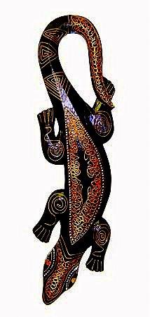 Настенный орнамент Ящерка 50 см