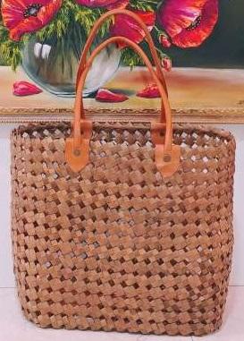 Плетеная сумка из бананового волокна