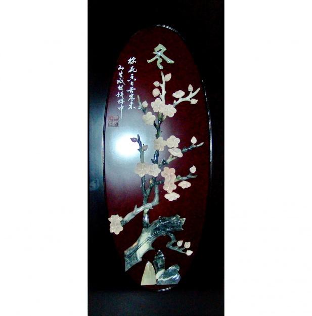 Картина нефритовая Сакура 40х90 см