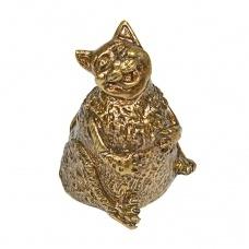 Колокольчик бронзовый Толстый кот 5 см