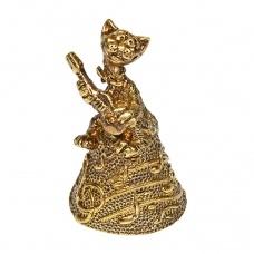 Колокольчик бронзовый Музыкальный кот 5 см