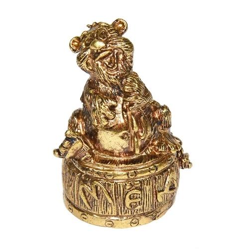 Колокольчик из бронзы Медведь и Мед 5,5