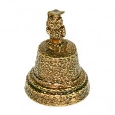 Колокольчик из бронзы Сова 4 см