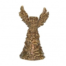 Колокольчик из бронзы Сова в полете 6,5 см