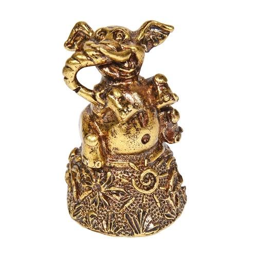 Колокольчик из бронзы Веселый слон 5 см