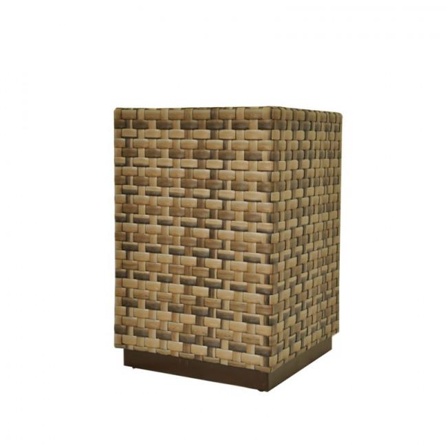 Кашпо напольное «Рубик» ротанг