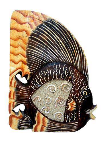 """Фигурка из дерева """"Аквариумная рыбка"""" 30см."""