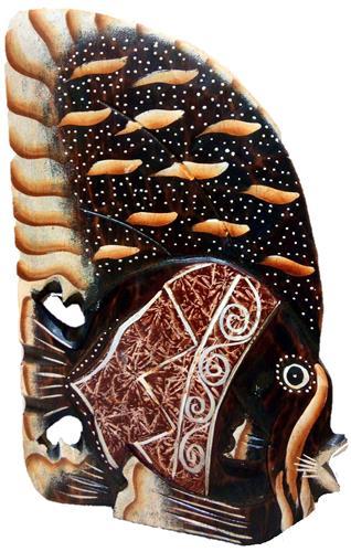 """Сувенир из дерева """"Морская рыбка"""" 15см."""