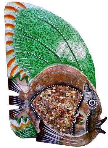 """Статуэтка """"Рыбка с зеленым плавником"""" 30см."""