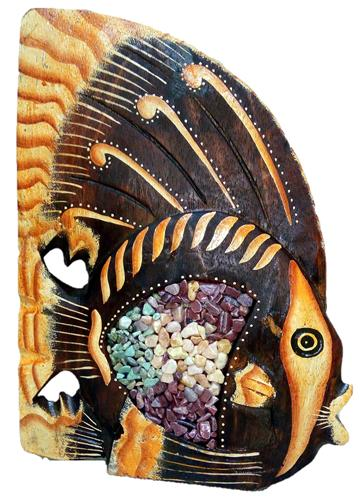 """Сувенир """"Рыбка с декором из камня"""" 15см."""