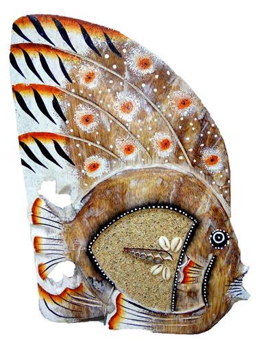 """Статуэтка резная """"Рыбка со стрекозой"""" 25см."""