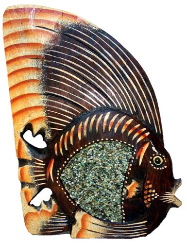 """Фигурка """"Рыбка с декором из песка"""" 30см."""
