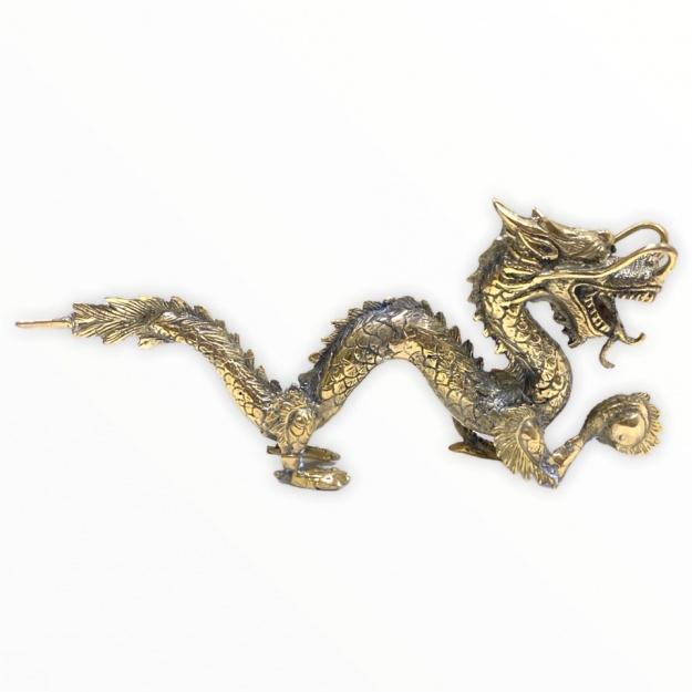 Фигурка Дракон с шаром 8х20 см