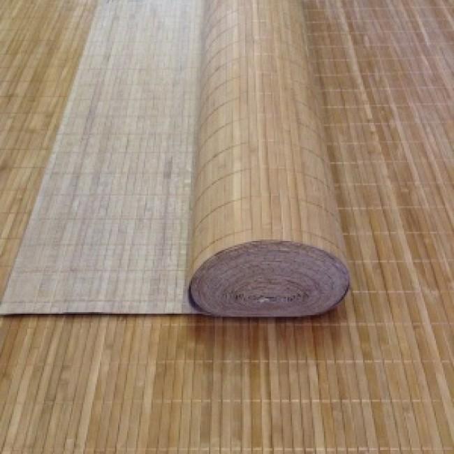Бамбуковое полотно Коньяк рейка 11 мм ширина 0,9 м х 1 м