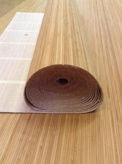 Натуральное волокно Коньяк №1 ширина 0,9 м х 1 м