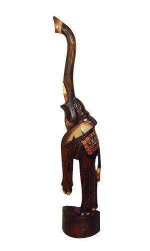 """Статуэтка из дерева """"Цирковой слон"""" 80см."""