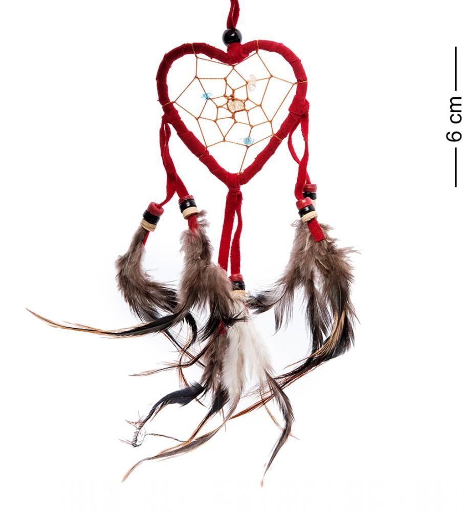 Амулет Ловец снов Красное сердце 6 см