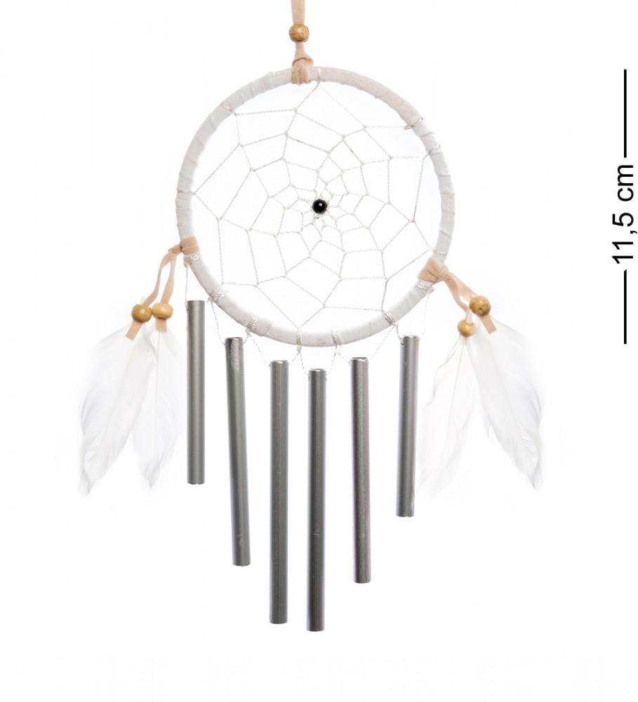 Ловец снов с музыкой ветра Белый круг 11,5 см