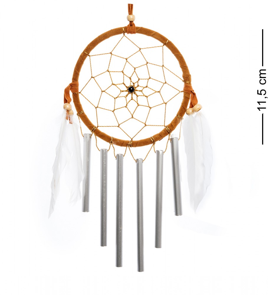Ловец снов с музыкой ветра Горчичный круг 11,5 см