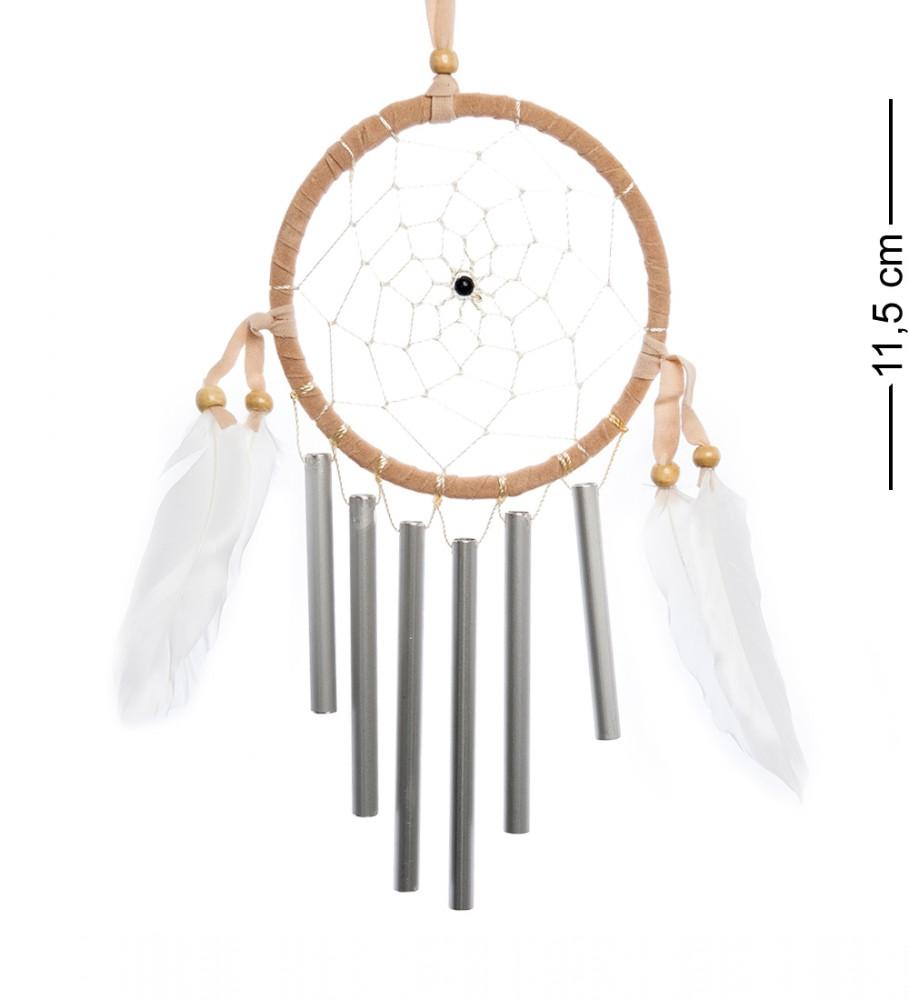 Ловец снов с музыкой ветра Бежевый круг 11,5 см